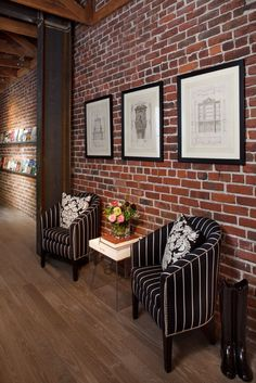 Studio Interior By Artistic Designs For Living Brick House Modern