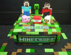 Minecraft Birthday Cake | Cupcake Divinity.. Cupcakes fit for divines!: Miles's Minecraft cake