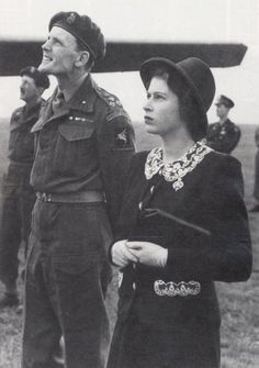 Shortly before D Day in late May 1944 - King George VI with Queen Elizabeth & the 18 year old Princess Elizabeth ( now of course our Queen…