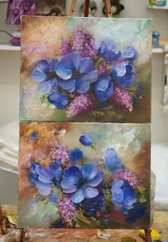 Floral Drawing, Diy Canvas Art, Arte Floral, Abstract Flowers, Acrylic Art, Painting Inspiration, Art Pictures, Painting & Drawing, Flower Art