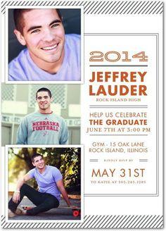 Contemporary Lines - #Graduation Invitations - Magnolia Press - Gunmetal Gray #grad