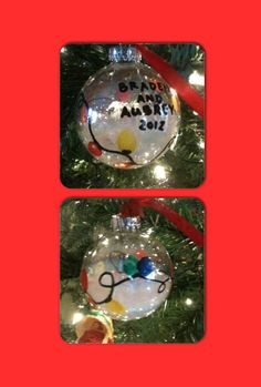 Thumbprint Christmas light ornament. Maybe have kids make these at party. Then they can give as gift to maybe a grandparent