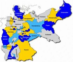 germany 19th century states within german empire as created in 1871 according to