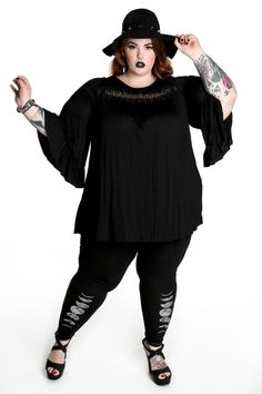 witchy tunic| up to 3XL! pastel goth nu goth punk goth plus size fashion fachin top plus domino dollhouse