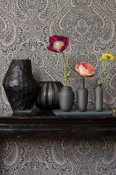 rasch textil indigo 226620 grau braun beige silber ornament muster vliestapete wohnzimmer schlafzimmer stil fabrik christoph baum pinterest braun beige - Wohnzimmer Braun Silber