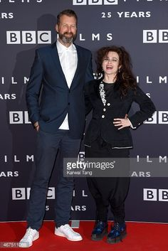 Helena Bonham Carter and Richard Laxton at the BBC Films' 25th Anniversary Reception at BBC Broadcasting House on March 25, 2015 in London, England.