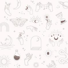 Line Art Bundle Art bundle, Cute tiny tattoos, Tattoo