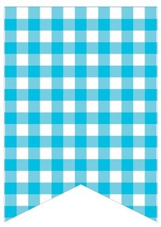 blue gingham Balloon Birthday Themes, Happy Birthday Banners, Diy Garland, Garlands, Disney Planner, Free Printable Banner, Classroom Labels, Cowgirl Party, Paper Banners