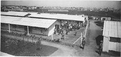Casablanca  Fort Provost    Camp de prisonniers allemands du Fort Provost, vue générale du camp au fond Casablanca    1916.05.21