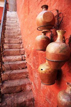 Tourist Destination Colorful Streets Arequipa Peru Stock Photo (Edit Now) 69565183 Terracota, Rust Color, Orange Color, Coral Color, Coral Pink, Art Texture, Live Coral, Orange Aesthetic, 12 Image