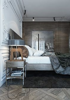 If you see this bedroom for the first time you might think it belongs to the monarch, or simply to the gently born. But we are not about to discuss our client's origins. The residence belongs to the young sophisticate who appreciates classical...