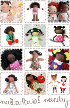Multicultural Monday - Creative, Cute and Culturally Diverse Dolls - African American, Asian, Hispanic, Aboriginal, Indigenous | KID independent – handmade for kids