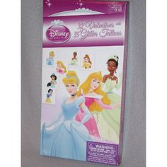 Disney Princess valentines 32 Valentines 35 Glitter Tattoos ** To view further for this item, visit the image link. (This is an affiliate link) #TemporaryTattoos