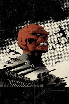 Red Skull Cover: Redskull Portrait Amidst Tanks and Planes Marvel Comics Poster - 30 x 46 cm Marvel Comics, Marvel Villains, Marvel Comic Universe, Marvel Comic Books, Comics Universe, Marvel Characters, Comic Books Art, Book Art, Evil Villains