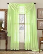 Lime Sheer Curtain Scarf