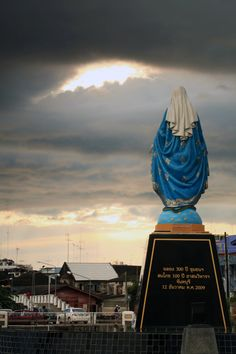 Heaven's Blessing. Afternoon, after rain in front of the Cathedral of Immaculate Conception Chanthaburi.by Jacky CW on 500px