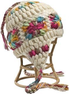 Crochet Multi Earflap Hat of wool and fleece - Nirvanna Designs