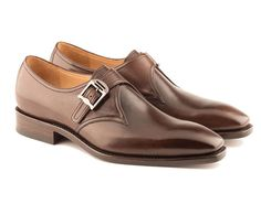 Luka - Single Monk Shoe In Dark brown Calf Leather