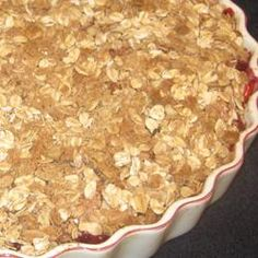 Apple-Raspberry Crisp Allrecipes.com  Add blueberries and strawberries...delish!