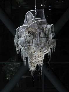 Lee Bul 이불 (Korean, b. 1964, Yeongju, Gyeongsangbuk-do, South Korea) - Sternbau No. 4, 2007 Crystal, Glass and Acrylic Beads on Nickel-Chrome Wire, Stainless Steel and Aluminum Armature