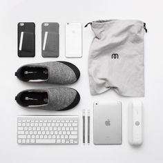 Minimal flatlay style - By @davidgrr - Leather wallet cases available on mujjo.com or through resellers worldwide. #mujjo #flatlay