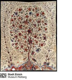 Lebensbaum Indien, Nord-Coromandel-Küste, um 1740 Stoff, bemalt 234 x 185 cm