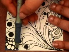 Zentangle~One Pattern with Variations (6:30)