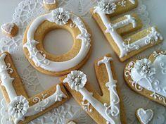 """""""Love"""" sugar cookies. So pretty."""