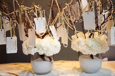 Instead of a guest book opt for a wish tree for your guests to leave a bit of advice or a wish for the future.