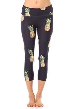 Gold Sheep Clothing Pineapple Party Capri Legging