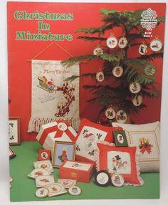 christmas in miniature cross stitch pattern book 5 gloria pat ornaments frame gloriapat