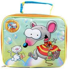 """From the silly world of Toopy and Binoo, comes this adorable lunch bag. Ideal for school, daycare or park! Made from sturdy 600D polyester and is fully insulated. Measures approximately 7"""" (L) x 9""""..."""