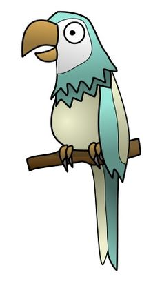 Nice cartoon parrot with a long beak and a colorful body. Try to draw it using a vector software! :)
