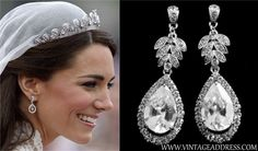 Get the look! - Kate Middleton!  http://www.vintageaddress.com/Vintage_Starlet_Crystal_Earrings/p1143724_6047722.aspx
