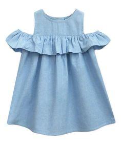 A.T.U.N. Sky Blue Ruffle Lucy Dress - Infant, Toddler & Girls   zulily