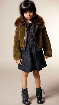 Cropped Shearling Jacket | Burberry