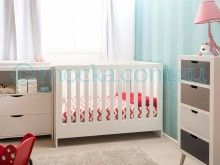 Mocka Amalfi Cot, with Brooklyn Change Table and Drawer Set, Whitehaven Tall, Pet Lamp and Moova