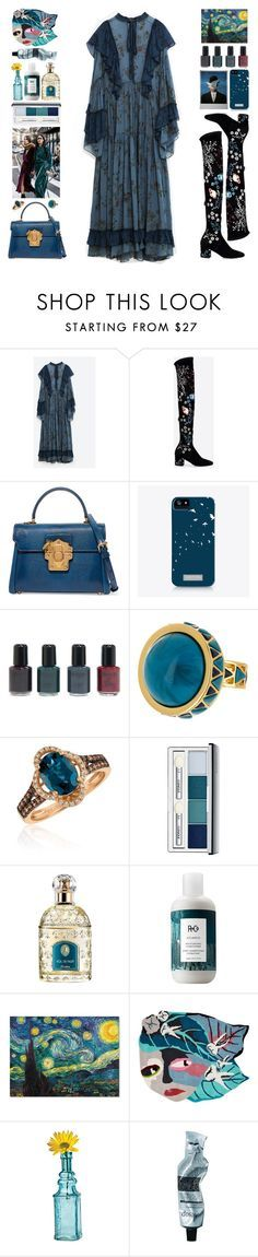 """""""Parallel Universe"""" by doga1 ❤ liked on Polyvore featuring Volant, Valentino, Dolce&Gabbana, Rene, JustFab, House of Harlow 1960, LE VIAN, Clinique, Guerlain and R+Co"""