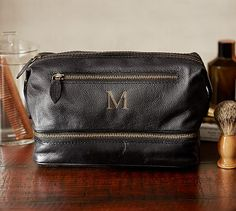 Pebble Leather Toiletry Case #potterybarn