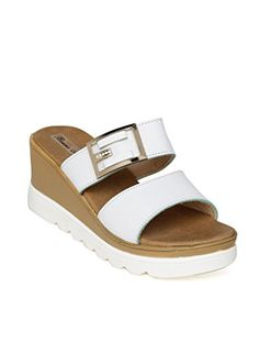 Bruno Manetti Women White Faux Leather Wedges Wedges Online, Cheap Sandals, Leather Wedges, Shoe Brands, India, Amazon, Shoes, Women, Fashion