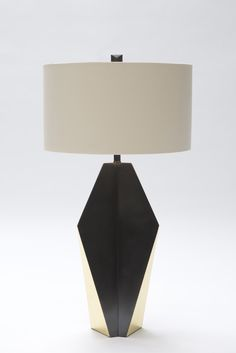Origami Fuse Lamp shown in Brass