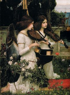 John William Waterhouse, St Cecilia (detail), 1895