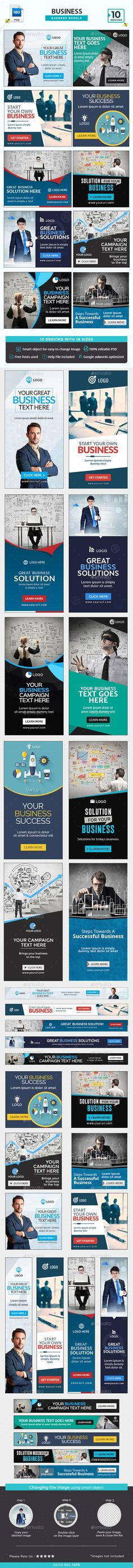 Business Banners Bundle - 10 Sets - 180 Banners Templates PSD. Download here: http://graphicriver.net/item/business-banners-bundle-10-sets-180-banners/16076171?ref=ksioks