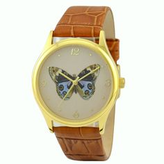 Butterfly Watch colorful by SandMwatch on Etsy, $39.00