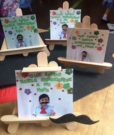 Dia del padre: - Jardin Tutorial and Ideas Kids Crafts, Preschool Crafts, Crafts To Make, Art N Craft, Craft Stick Crafts, Fathers Day Crafts, Happy Fathers Day, Father's Day Activities, Daddy Day