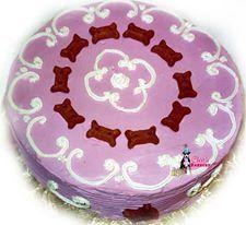 Pink & White Doggie Cake