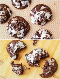 LOVE these York Peppermint Patty Fudge Cookies. So fudgy, they're like brownies.