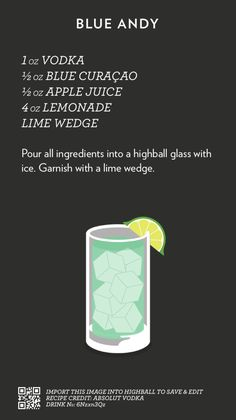 Based in Melbourne, Australia / A collection of recipes I find, steal or create, spread out in a simple layout, courtesy of the mobile app Highball. Drink Bar, Liquor Drinks, Vodka Drinks, Smoothie Drinks, Cocktail Drinks, Yummy Drinks, Smoothies, Beverages, Cocktail Recipes