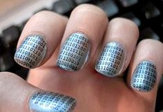 "Binary Nails - I'm torn.... do these go in ""nails"" or ""geek stuff""?"