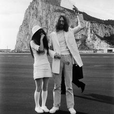 Yoko Ono wedding dress